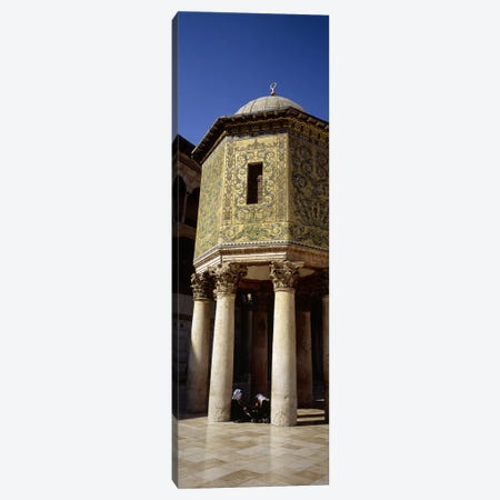 Two people sitting in a mosque, Umayyad Mosque, Damascus, Syria Canvas Print #PIM5415} by Panoramic Images Canvas Wall Art