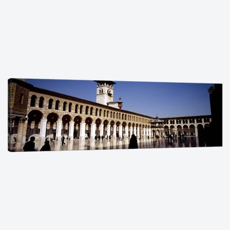 Group of people walking in the courtyard of a mosque, Umayyad Mosque, Damascus, Syria #2 Canvas Print #PIM5416} by Panoramic Images Canvas Artwork