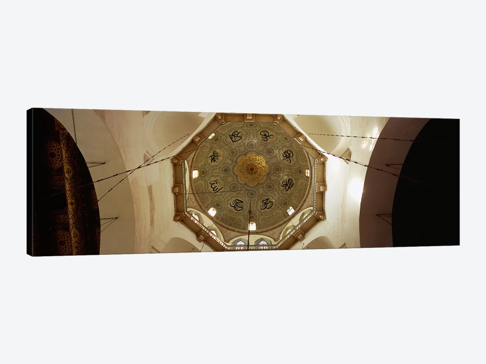 Low angle view of ceiling in a mosque, Umayyad Mosque, Damascus, Syria by Panoramic Images 1-piece Canvas Art Print