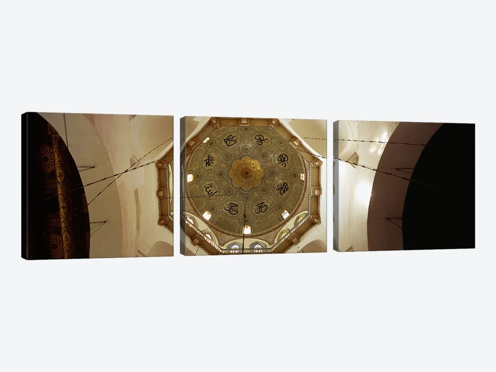 Low angle view of ceiling in a mosque, Umayyad Mosque, Damascus, Syria by Panoramic Images 3-piece Canvas Art Print