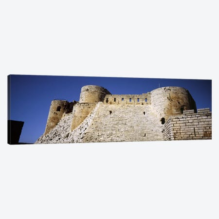 Low angle view of a castle, Crac Des Chevaliers Fortress, Crac Des Chevaliers, Syria Canvas Print #PIM5418} by Panoramic Images Canvas Art Print