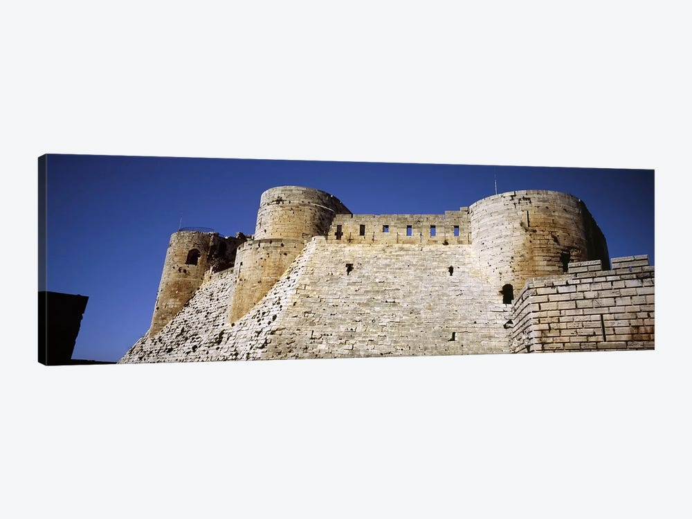 Low angle view of a castle, Crac Des Chevaliers Fortress, Crac Des Chevaliers, Syria by Panoramic Images 1-piece Canvas Art