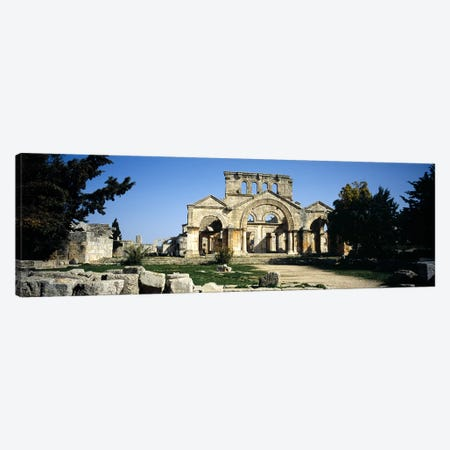 Old ruins of a church, St. Simeon The Stylite Abbey, Aleppo, Syria Canvas Print #PIM5426} by Panoramic Images Art Print