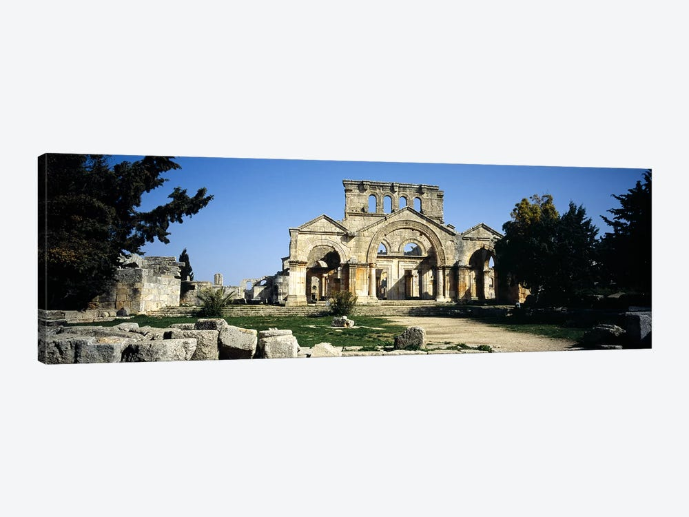 Old ruins of a church, St. Simeon The Stylite Abbey, Aleppo, Syria by Panoramic Images 1-piece Canvas Print