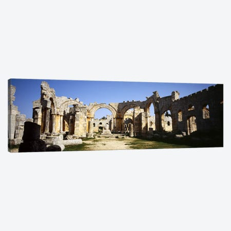Old ruins of a church, St. Simeon The Stylite Abbey, Aleppo, Syria #2 Canvas Print #PIM5427} by Panoramic Images Canvas Print