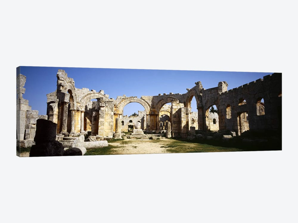 Old ruins of a church, St. Simeon The Stylite Abbey, Aleppo, Syria #2 by Panoramic Images 1-piece Canvas Artwork