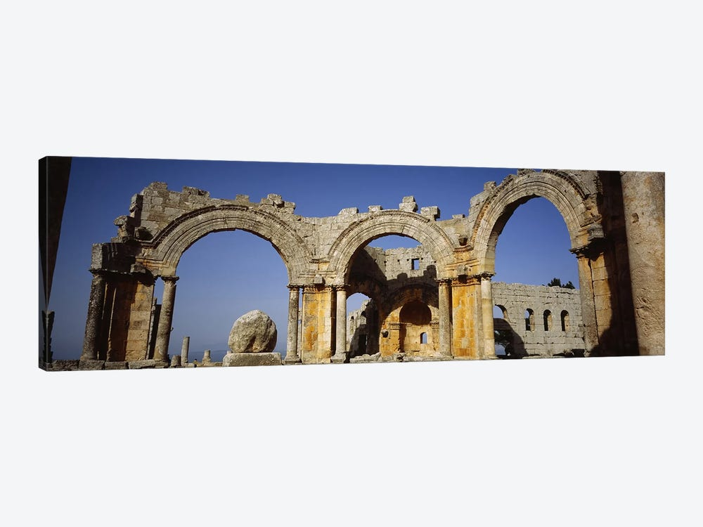 Old ruins of a church, St. Simeon Church, Aleppo, Syria by Panoramic Images 1-piece Canvas Art Print