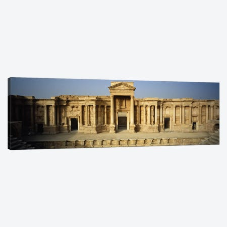 Facade of a building, Palmyra, Syria Canvas Print #PIM5435} by Panoramic Images Canvas Art