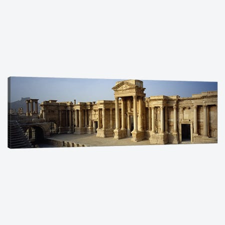 Facade of a building, Palmyra, Syria #2 Canvas Print #PIM5436} by Panoramic Images Canvas Art