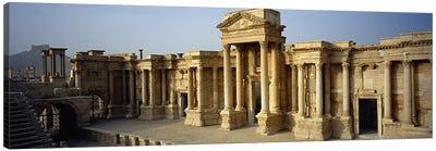Facade of a building, Palmyra, Syria #2 Canvas Print #PIM5436