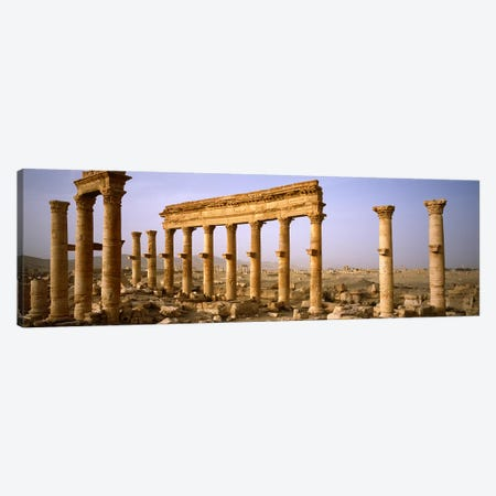 Old ruins on a landscape, Palmyra, Syria Canvas Print #PIM5438} by Panoramic Images Canvas Print