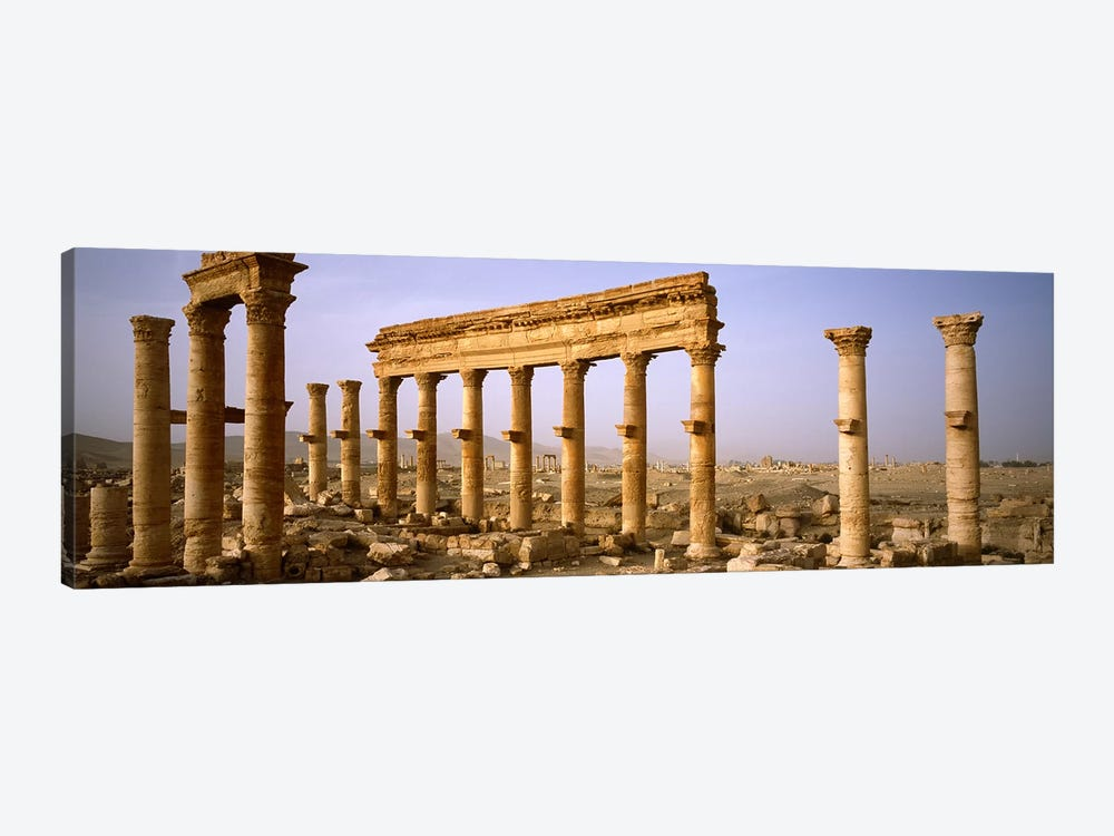 Old ruins on a landscape, Palmyra, Syria by Panoramic Images 1-piece Canvas Wall Art
