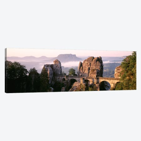 Bastei Bridge, Saxon Switzerland National Park, Saxony, Germany Canvas Print #PIM543} by Panoramic Images Canvas Art Print