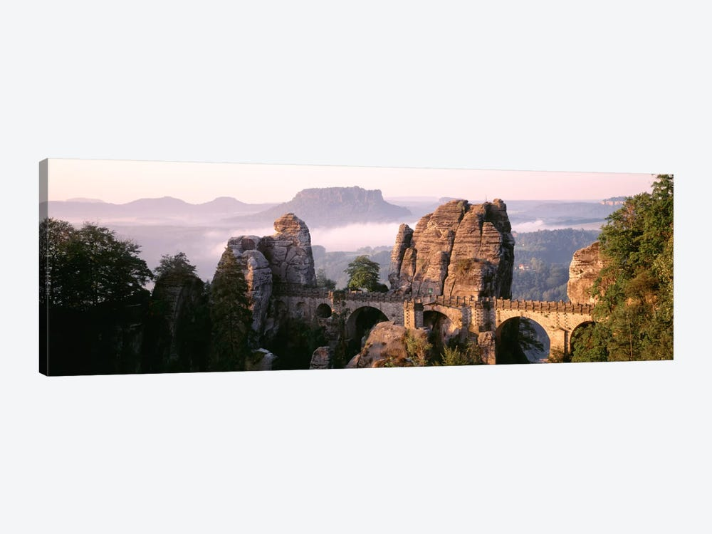 Bastei Bridge, Saxon Switzerland National Park, Saxony, Germany by Panoramic Images 1-piece Canvas Print