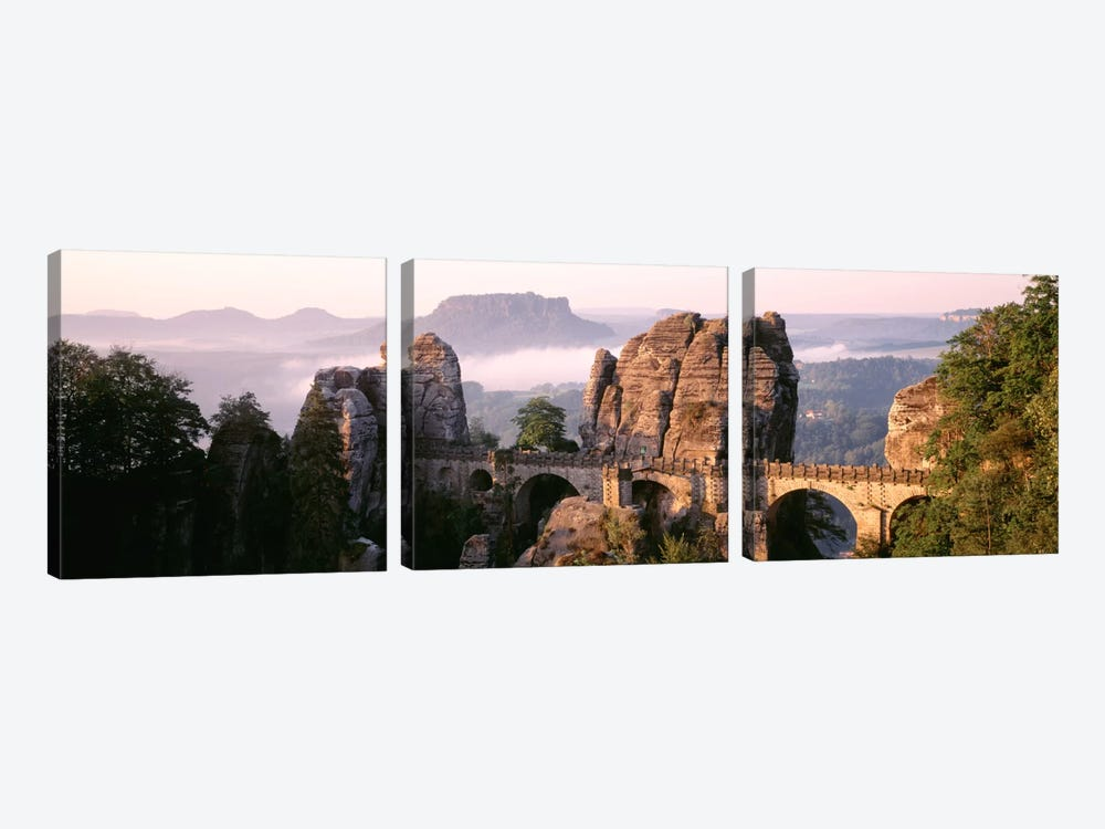 Bastei Bridge, Saxon Switzerland National Park, Saxony, Germany by Panoramic Images 3-piece Art Print