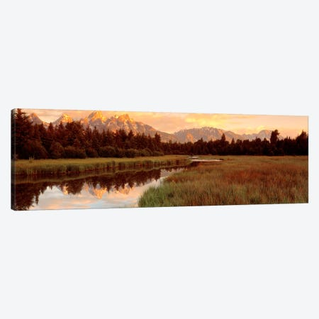 Wilderness Landscape At Sunrise, Grand Teton National Park, Wyoming, USA Canvas Print #PIM544} by Panoramic Images Canvas Wall Art