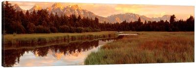 Wilderness Landscape At Sunrise, Grand Teton National Park, Wyoming, USA Canvas Print #PIM544