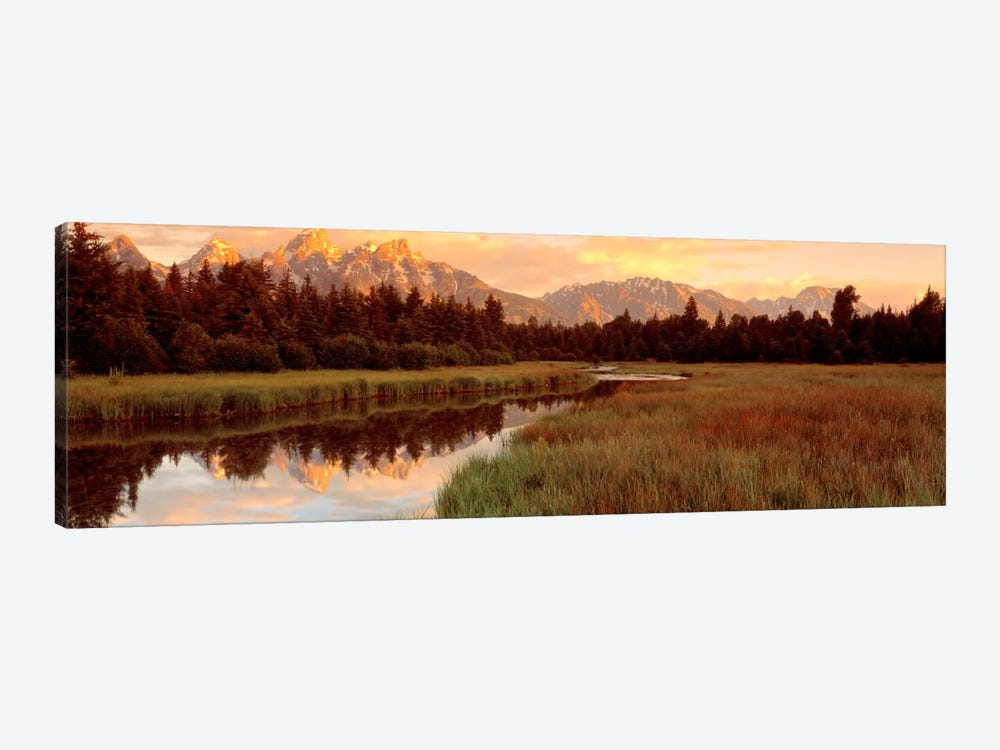 Wilderness Landscape At Sunrise, Grand Teton National Park, Wyoming, USA by Panoramic Images 1-piece Canvas Art