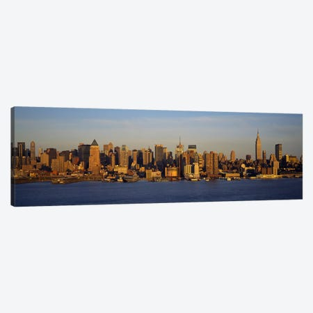 Skyscrapers at the waterfront, New York City, New York State, USA #2 Canvas Print #PIM5454} by Panoramic Images Canvas Art