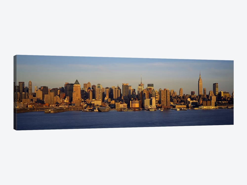 Skyscrapers at the waterfront, New York City, New York State, USA #2 by Panoramic Images 1-piece Canvas Art