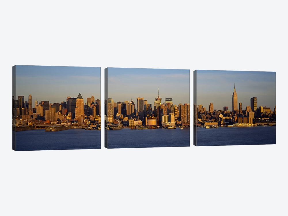 Skyscrapers at the waterfront, New York City, New York State, USA #2 by Panoramic Images 3-piece Canvas Art
