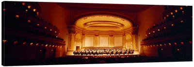 Performers on a stage, Carnegie Hall, New York City, New York state, USA Canvas Art Print