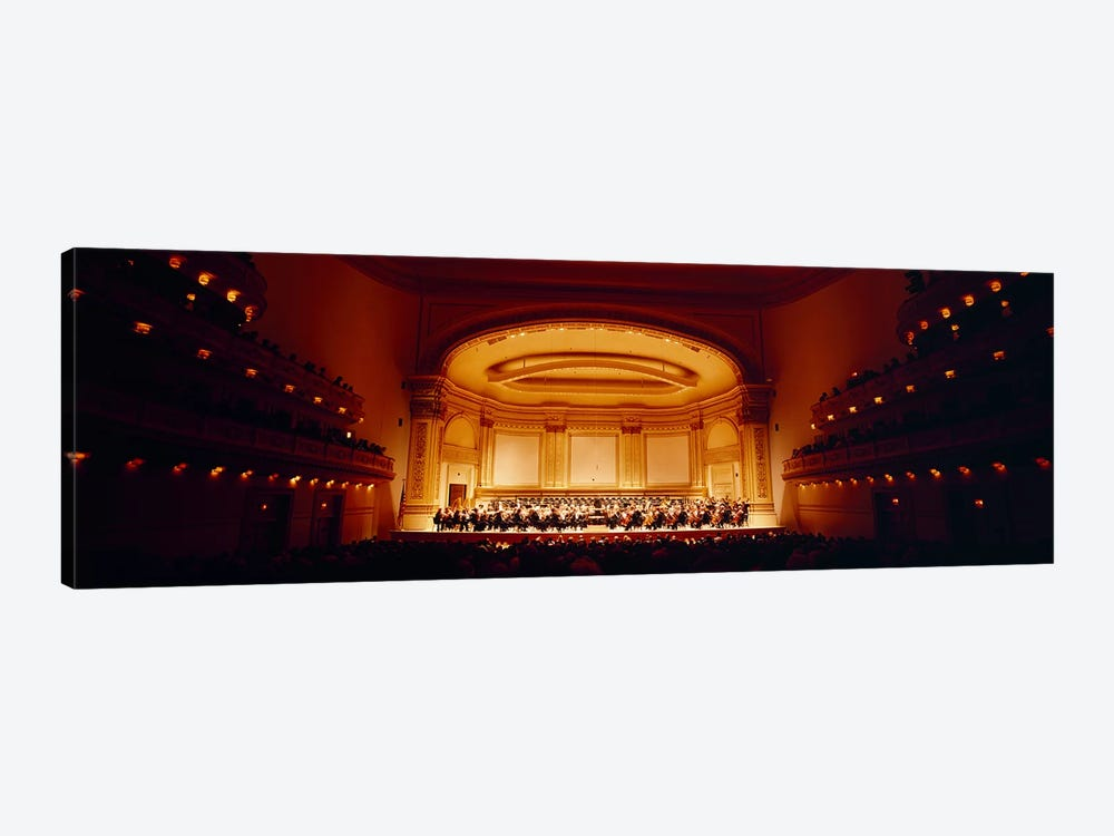 Performers on a stage, Carnegie Hall, New York City, New York state, USA by Panoramic Images 1-piece Art Print