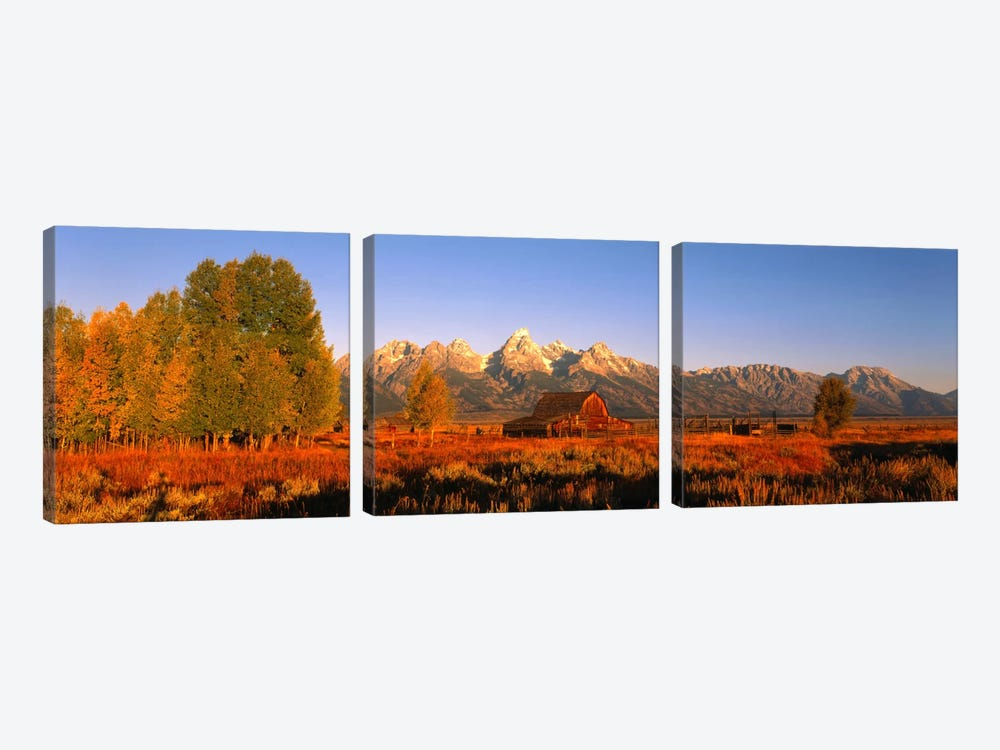 Sunrise Grand Teton National Park WY USA by Panoramic Images 3-piece Art Print