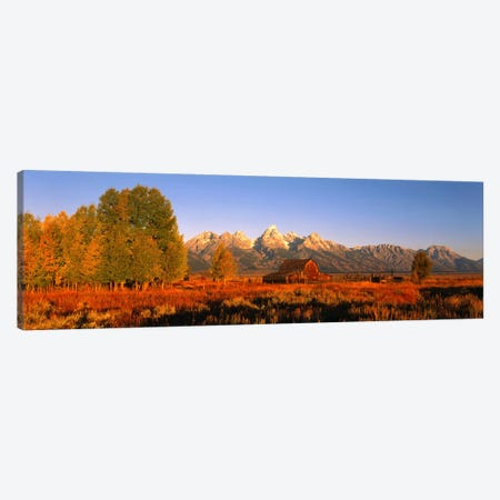 Sunrise Grand Teton National Park WY USA Canvas Print #PIM545} by Panoramic Images Canvas Wall Art