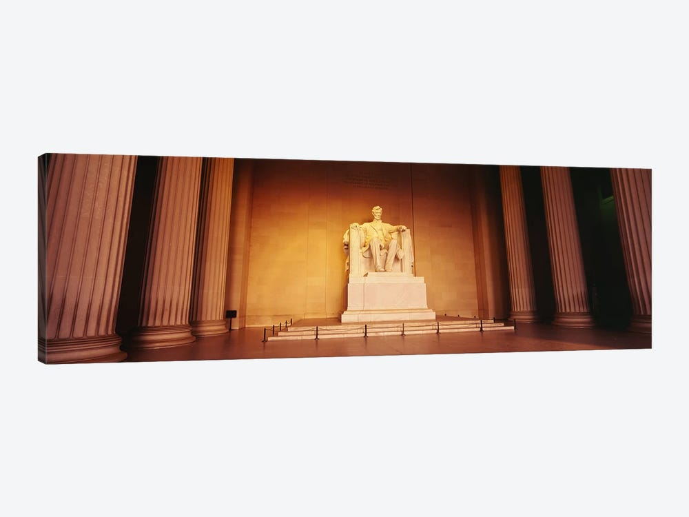 Low angle view of a statue of Abraham Lincoln, Lincoln Memorial, Washington DC, USA by Panoramic Images 1-piece Canvas Print