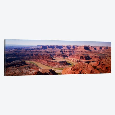 River flowing through a canyonCanyonlands National Park, Utah, USA Canvas Print #PIM546} by Panoramic Images Canvas Wall Art
