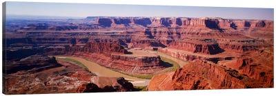 River flowing through a canyonCanyonlands National Park, Utah, USA Canvas Art Print