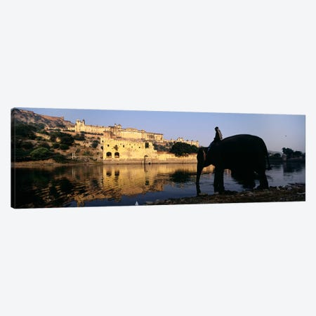 Side profile of a man sitting on an elephant, Amber Fort, Jaipur, Rajasthan, India Canvas Print #PIM5470} by Panoramic Images Canvas Art Print