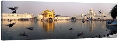 Reflection of a temple in a lake, Golden Temple, Amritsar, Punjab, India Canvas Art Print