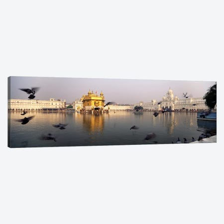 Reflection of a temple in a lake, Golden Temple, Amritsar, Punjab, India Canvas Print #PIM5473} by Panoramic Images Art Print