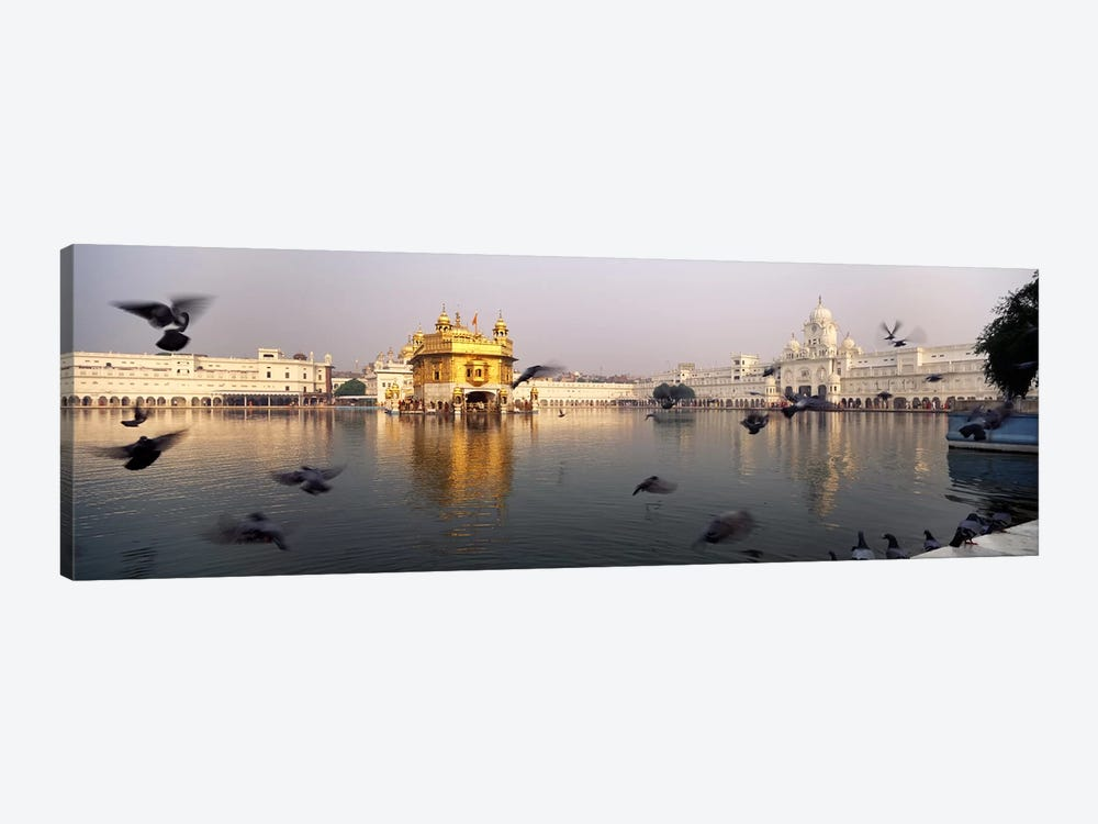 Reflection of a temple in a lake, Golden Temple, Amritsar, Punjab, India by Panoramic Images 1-piece Canvas Art Print
