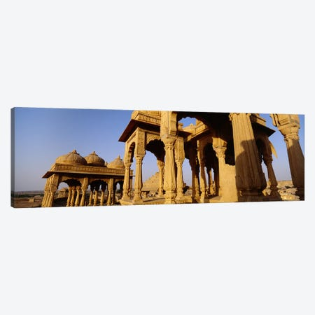 Low angle view of monuments at a place of burial, Jaisalmer, Rajasthan, India Canvas Print #PIM5477} by Panoramic Images Canvas Artwork