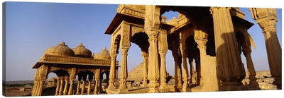 Low angle view of monuments at a place of burial, Jaisalmer, Rajasthan, India Canvas Print #PIM5477
