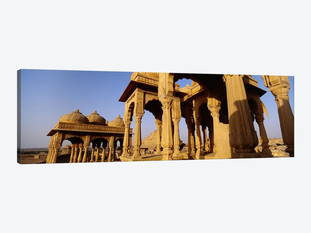 Low angle view of monuments at a place of burial, Jaisalmer, Rajasthan, India by Panoramic Images 1-piece Canvas Art Print