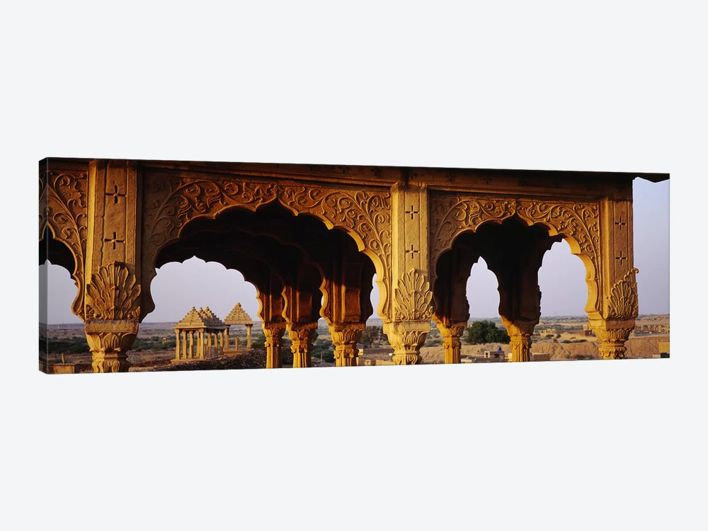 Monuments at a place of burial, Jaisalmer, Rajasthan, India by Panoramic Images 1-piece Canvas Artwork