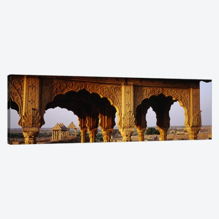 Monuments at a place of burial, Jaisalmer, Rajasthan, India Canvas Print #PIM5478} by Panoramic Images Canvas Art Print