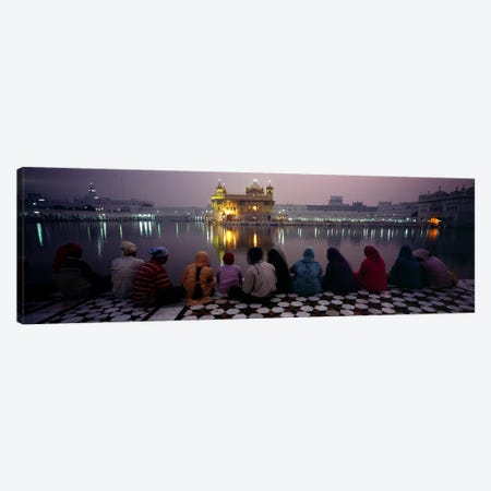 Group of people at a temple, Golden Temple, Amritsar, Punjab, India Canvas Print #PIM5479} by Panoramic Images Canvas Print