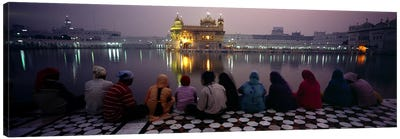 Group of people at a temple, Golden Temple, Amritsar, Punjab, India Canvas Print #PIM5479