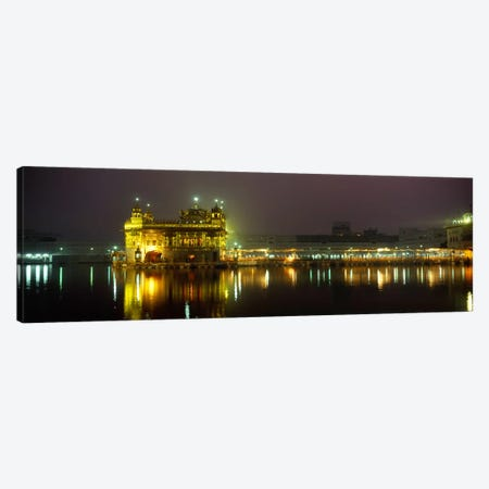 Temple lit up at night, Golden Temple, Amritsar, Punjab, India Canvas Print #PIM5480} by Panoramic Images Canvas Art