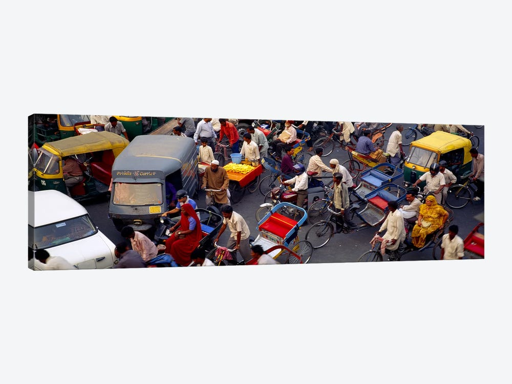 Traffic Jam In Old Delhi, Delhi, India by Panoramic Images 1-piece Canvas Artwork