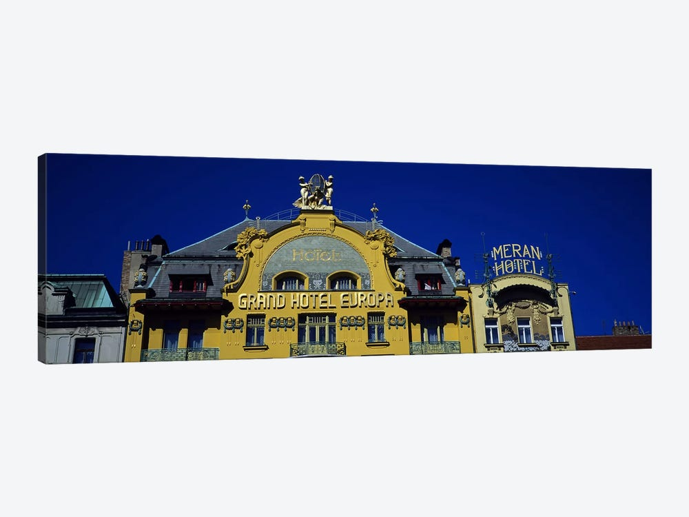 High section view of a hotel, Grand Hotel Europa, Prague, Czech Republic by Panoramic Images 1-piece Canvas Art