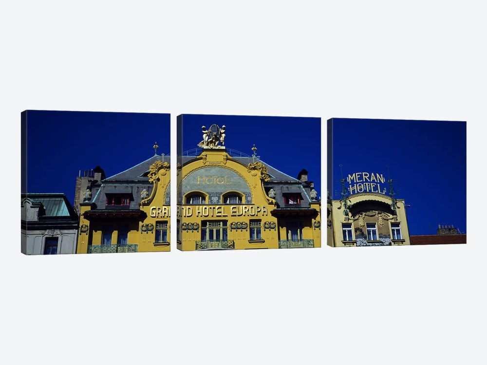 High section view of a hotel, Grand Hotel Europa, Prague, Czech Republic by Panoramic Images 3-piece Canvas Art