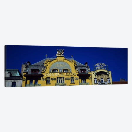 High section view of a hotel, Grand Hotel Europa, Prague, Czech Republic Canvas Print #PIM5494} by Panoramic Images Canvas Art