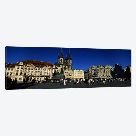Group of people at a town square, Prague Old Town Square, Old Town, Prague, Czech Republic Canvas Print #PIM5495} by Panoramic Images Canvas Art