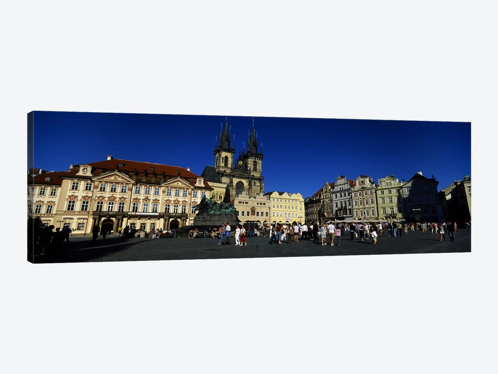 Group of people at a town square, Prague Old Town Square, Old Town, Prague, Czech Republic by Panoramic Images 1-piece Art Print